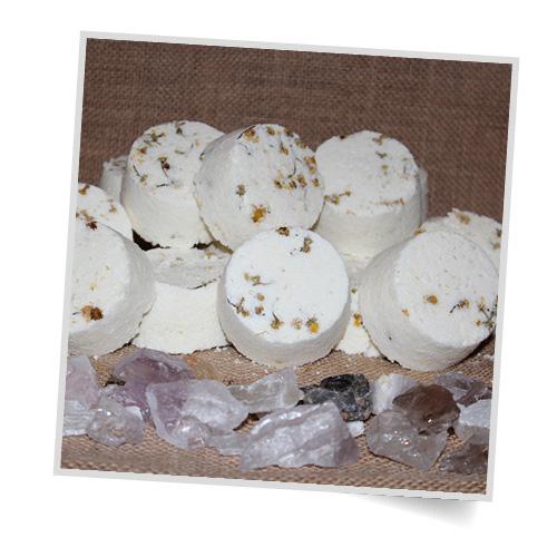 Nurture You Heal You magnesium bath bombs - Creamy Chamomile